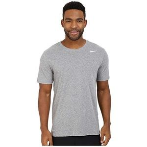 Nike Grey Cotton Dri-Fit Tee, L